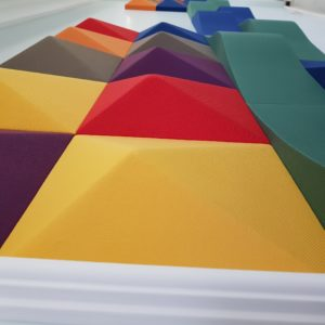 pyramid and waterwave panels by acoustima