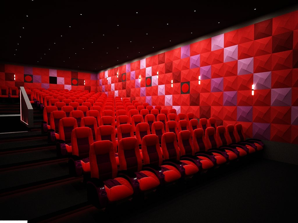 Spin® panel by Acoustima® and cinema seats by seatupturkey®